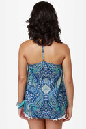 O\\\\\\\'Neill Love Struck Blue Paisley Print Tank Top