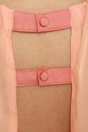Sneaky Peaches Blush and Peach Dress