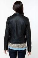 Obey Eastsider Black Vegan Leather Jacket