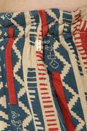 Obey Wanderer Bell Bottom Print Pants
