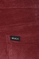 RVCA Life & Times Burgundy Corduroy Skinny Pants