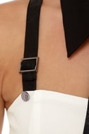 Collar Guard Black and Ivory Dress