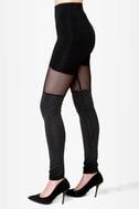 Celestial Bodies Black Studded Leggings