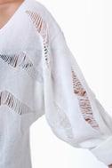 Crossbones Beaded Ivory Sweater