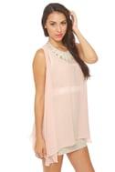 All Dolled Up Blush Pink Sheer Mini Dress