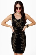 Constellation Prize Studded Black Dress