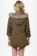 Parka Avenue Army Green Coat