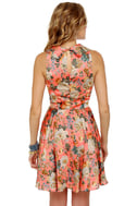 Florid Pro's Coral Floral Print Dress