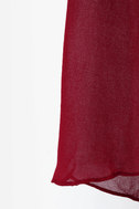 Smooth Move Sheer High-Low Wine Red Top