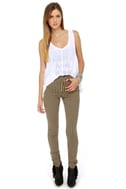 Tripp NYC Striped Antique Black and Beige Skinny Jeans