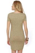 Photogenic Short Sleeve Olive Green Dress