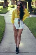 Honeycomb, I\\\\\\\'m Home! Yellow Sweater Top