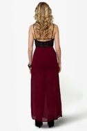 Shorty Got Low Burgundy Maxi Skirt