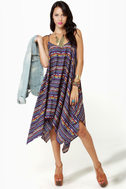 Volcom Peer Pressure Blue Print Dress