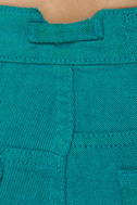 Volcom What the Twill Turquoise Skinny Jeans