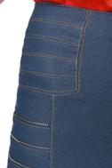 Chipper Zipper Denim Skirt