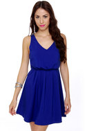 Monsoon Season Royal Blue Dress