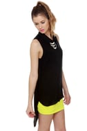 Why High-Low There Black Tank Top