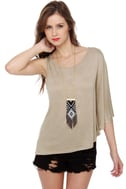 Propose a Toast Taupe Top