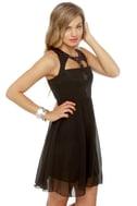Nightin-gala Black Silk Dress
