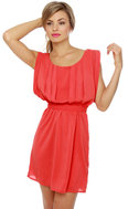 Plus One Coral Red Dress