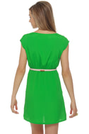 Shipwrecked Green Striped Dress