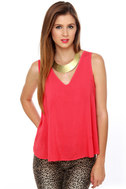 Cage Turner Red Tank Top