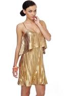 Electric Honey Gold Dress