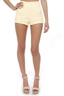 Hot Prance High-Waisted Cream Lace Shorts
