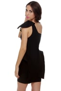 Marry the Night One Shoulder Black Dress