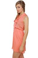 Commuter Train Peach Dress