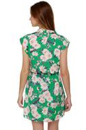 Coming Up Daisies Green Floral Print Dress