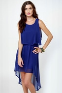 Tier-ing Up Royal Blue Dress