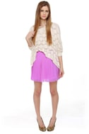 Jill Frost Lavender Mini Skirt