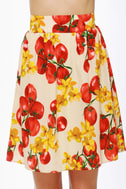You Say Tomato Print Skirt