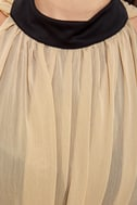 Coliseum Cutie Black and Beige Dress
