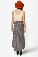 Belle Epoque Cream and Black Striped Dress