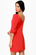 In My Prime-ary Coral Red Shift Dress