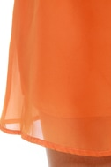 Post Up at the Poolside Orange Dress