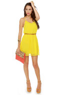 Post Up at the Poolside Yellow Dress