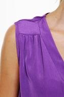 Mind the Wrap Sleeveless Purple Dress