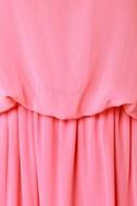 Mount Olympus Coral Pink Maxi Dress