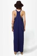 Give \'em the Slip Navy Blue Maxi Dress