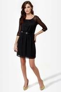 Rest A-Sheer-ed Black Dress