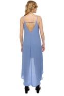 Point Break High-Low Periwinkle Blue Dress
