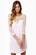 Meet Your Mesh Ivory Dress