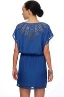 Paper Snowflake Blue Dress