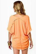 Best of the Zest Sheer Orange Top