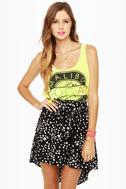 Lucy Love Ibiza Black Star Print Skirt