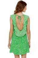 Lucy Love Breanne Green Print Dress